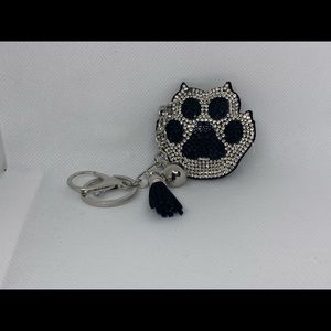 Bear diamond encrusted keychain